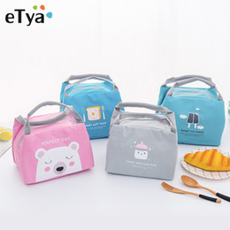 bottle tote bags NZ - eTya Cartoon Cute Lunch Bag For Women Girl Kids Children Thermal Insulated Lunch Box Tote Picnic Bag Milk Bottle Pouch