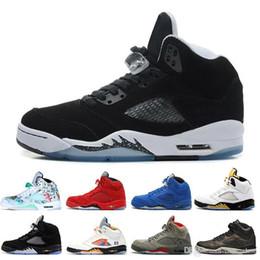 Silver Men Basketball Shoes Australia - Cheap Wings 5 5s New International Flight Men Basketball Shoes 16 Prem HC Low China Silver White SUP men sports sneakers designer trainers