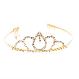 Wholesale 1pc Bride Crown Crystal Drop shaped Elegant Headdress Hair Accessories Hair Band Headwear Birthday Party Wedding