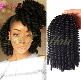 black blonde ombre kanekalon braiding hair NZ - Crochet Braids Ombre Black Brown Blonde Spring Twists 8 inch Crochet Braids Ombre Spring Kanekalon Synthetic Hair Extensions Twists
