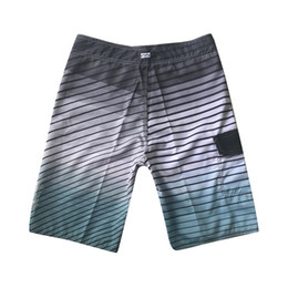 PinstriPe flats online shopping - Swim Shorts Pour Homme Quick Dry Surf Beach Style Summer Fitness Gradient Pinstripe Knee Length Casual Short Pants