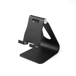 Adjustable Metal Stand For Tablet Australia - Adjustable angle aluminum alloy metal phone tablet stand desktop stand for iPhone XR XS MAX X 8 7 Plus Samsung S9 S8 plus Huawei RetailBOX