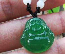 Green Chalcedony Pendant NZ - Natural ice species green chalcedony Buddha Guanyin pendant Agate crystal birth year chalcedony pendant wholesale