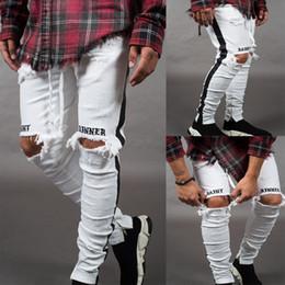 $enCountryForm.capitalKeyWord Australia - Mens Designer Ripped Jeans Hole Distressed striped Zipper Jeans Casual Trousers Slim Pencil Pants Biker Denim Pants Skinny LJJA2528