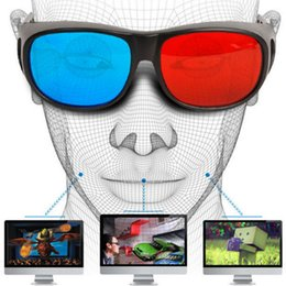 Blue movie dvd online shopping - Universal Type D Glasses TV Movie Dimensional Anaglyph Video Frame D Vision Glasses DVD Game Glass Red And Blue Color Newest