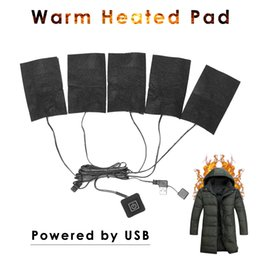 $enCountryForm.capitalKeyWord NZ - USB Charged Warm Paste Pads Waterproof Carbon Fiber Heating Pad Safe Portable Heating Warmer Pad for Vest Jacket Cloth Supplies