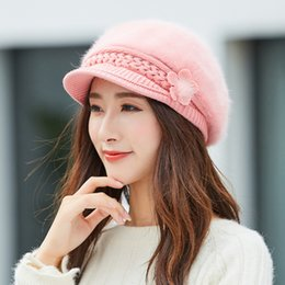 ea8650b94685d Hot Women Winter Warm Floral Cap Knitted Hat Beret Baggy Beanie Hat Slouch  Ski Cap Mujer boina caliente  503