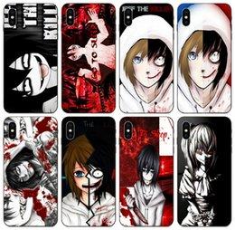 iphone 6s girl cases UK - [TongTrade] Popular Anime Jeff The Killer Girl Case For iPhone 11 Pro X XS Max XR 6s 5s 5c Plus Samsung S10 5G Huawei GR3 GR5 Redmi 4 Case