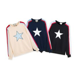 clothing design for women UK - Fashion Hoodies For Men Famous Design Sweatshirt With Star Letters Tide Women Pullovers Hoodie Fashion Men Clothing
