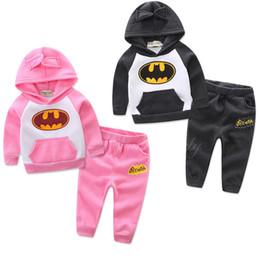 $enCountryForm.capitalKeyWord Australia - Pink blue grey babies outfits long sleeve hoodies sweatshirt+pants 2pcs baby girl boy clothing set kids toddler warm suit
