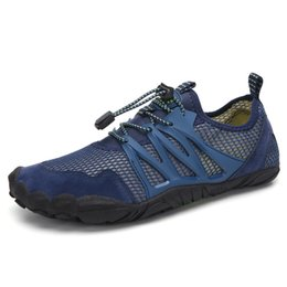 Slippers Summer Shoes Adult Australia - Aqua Shoes Summer Shoes Men Breathable Beach Slippers Upstream Adult man Swimming Sandals Diving Socks Tenis Masculino