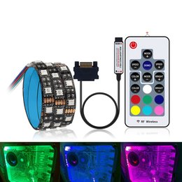 $enCountryForm.capitalKeyWord Australia - Interface RGB LED Strip Light 60LEDs m Diode Tape Full Kit with RF Wireless Controller for PC Computer Case 0.5m 1m