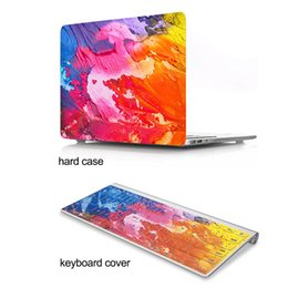 Macbook 12 Inch Australia - Colorful ink graffiti Pattern Hard Plastic Protective Case for Macbook air 11 12 13 15 inch Pro Retina with keyboard cover