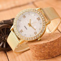 $enCountryForm.capitalKeyWord Australia - Wristwatches Fashion Alloy Mesh Belt Lady Quartz Watch Luxury Diamond Set Foreign Trade Hot Style Watch Women