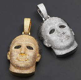 michael pendant Australia - 14K Iced Out Gold Custom Michael Myers Pendant CZ Big Size Solid Character Pendants Hiphop Jewelry Christmas Valentine's Day gift
