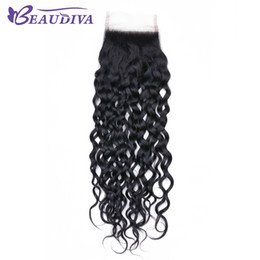 "$enCountryForm.capitalKeyWord Australia - Beaudiva Peruvian Water Wave Lace Closure Free Part Human Hair Closure Swiss Lace 8""-20"" Natural Color Free Shipping"