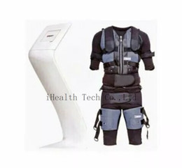 $enCountryForm.capitalKeyWord Australia - Black Electric Pulse Muscle Stimulator Jacket Body Shaping Ems Fitting Fitness Suit Body Slimming Ems Suit