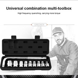 $enCountryForm.capitalKeyWord Australia - Hot sale 10 Pcs Car Mechanics Tool Kit Wrench Socket Set for Auto Motorcycle Repair Hand Tool Set of tools HVR88