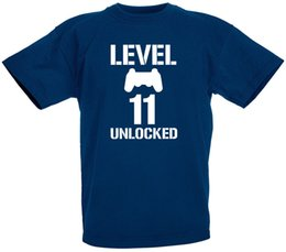 b876c85c2 Level 11 Unlocked 11th Birthday Gifts Present Gift T-Shirt For 11 Year Old  Boys Funny free shipping Unisex Tshirt