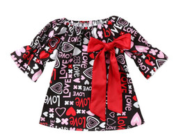 Baby Girl Tutu Dress Love UK - valentine's day outfit New Style Newborn Kids Baby Girls Dress Long Sleeve Love Valentine Day Party Pageant Dress Outfits
