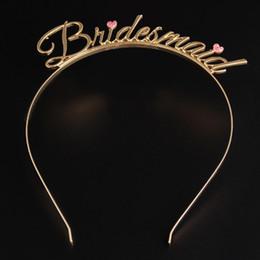 $enCountryForm.capitalKeyWord Australia - 2019 Bridesmaid Letter Wedding Alloy Hair Band Hair Sticks Comb Stunning Bride Jewelry Accessories Hair Headpieces