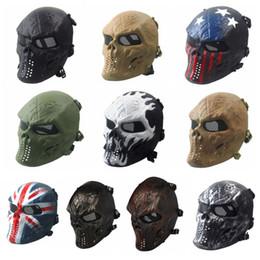 Skull Decor For Halloween Australia - Skull Skeleton Full Face Halloween Party Mask Army Games TPR Eye Shield Mask for Cosplay Party Decor