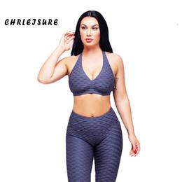 $enCountryForm.capitalKeyWord Australia - CHRLEISURE Two Pieces Set Women Summer Trend Solid Color Hot Leggings Sleeveless Round Collar Polyester Hip Push sexy Girl T5190610