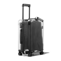 9530a04892f 2018 Latest Fashion Transparent Trolley suitcase Travel bag Men New 20 22  24 26 inch PC Rolling Luggage Spinner brand on wheels