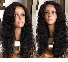 human hair brazilian loose curly Australia - Long Loose Curly Brazilian Virign Hair Lace Front Human Hair Wigs For 24inch Black Women Wig With Baby Hair