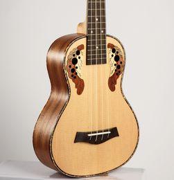 Vente en gros Livraison gratuite de haute qualité 23 pouces ukulele guitare hawaïenne Ingman Panel Spruce cordes Quatre petits Ukulele pour instruments de musique