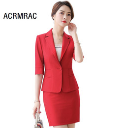 83deb3c7f4b0 Women suits Slim summer Half sleeve Jacket skirt 2-piece set OL Formal  Business Women skirt suits Woman set 826