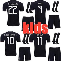adf321a476bac 2019 2020 thai quality Mexico kids full sets 19 20 Children soccer jersey  CHICHARITO LOZANO MARQUEZ DOS SANTOS uniforms football with socks