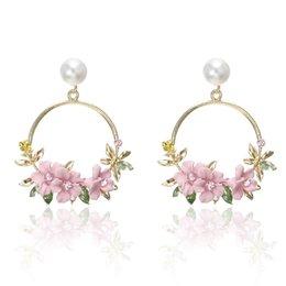 Earrings Drop Earrings 2018 New Fashion Korea Shell Flowers Pearl Pendant Tassel Earrings Simple Wild Personality Long Pendientes For Women Jewelry Soft And Light
