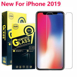 iphone samsung tempered screen NZ - For iphone 11 2019 For iPHONE X 8 7 6 6S PLUS tempered glass film phone screen protector for Samsung A30S A10S A50S M30S Huawei mate 30 lite