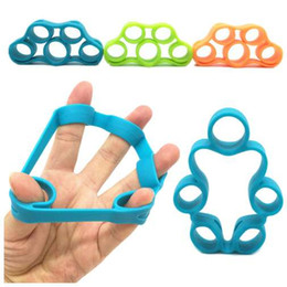 Ring Pull Handles Australia - Silicone finger training rally finger resistance belt training device for fitness pull ring handle expander fitness equipment