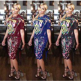 6139c4428c9 Women Digital Printed 2pcs Dress Sexy Hollow Out Female Pub Suit Women Two  Piece Summer Fashion Clothing