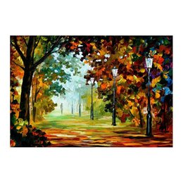 $enCountryForm.capitalKeyWord UK - 72x48 Forest path living room White birch sofa background wall decoration painting European painting hand-painted canvas oil painting