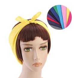 Headbands Bow Australia - Fashion Woman Rabbit Ear Headband Lady Stretch Hair Bows Head Wrap Retro Cross Hair Ornament DIY Hair Accessories LJJT657