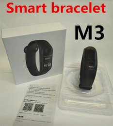 Wholesale M3 Smart Bracelet Watch Band YOHO Bluetooth Fitness Tracker Big battery Heart Rate Waterproof Pedometer Push Message White Box women USB