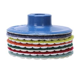 Wholesale EASY Pieces Inch Qulity Diamond Round Flexible Dry Polishing Pad Grinding Disc For Marble Stone Glass Grinding