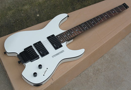 Floyd Rose White Australia - White Headless Electric Guitar with EMG Pickgups,Floyd Rose,Rosewood Fretboard,Black Binding,offering customized services