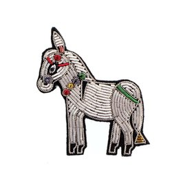 $enCountryForm.capitalKeyWord UK - gift cartoon Brooch Pins patch For Clothing backpack decoration hand embroidery made high quality Indian bullion material horse