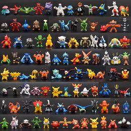 Venta al por mayor de 144 monstruo de las PC Pika PVC de los juguetes de dibujos animados de Cosplay de las películas de acción Figura Decoración de la muñeca Juguetes para niños Kids regalos 3 CM