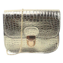 Ladies Handbag Suede UK - Cheap Women Fashion Crocodile Pattern Alligator Cover Single Handbag Shoulder Bag Small Tote Ladies Purse Hot Sale#YL