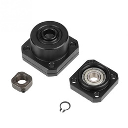 Floating Blocks Australia - 1 Set Fixed Floated Side End Supports Bearing Housing Mounts for Ball Screw 10mm rolamento router table rolling bearing block