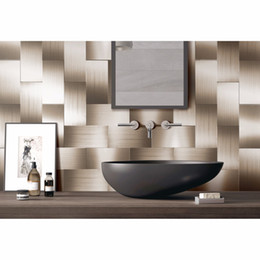 Tiles Design For Kitchen Wall Australia - 32 Pieces Peel and Stick Backsplash 3in x 6in Brushed Copper Long Grain Metal Tile for Kitchen and Bathroom