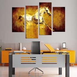$enCountryForm.capitalKeyWord Australia - New Fashion Modern 4 Pcs set Animal Horse Canvas Art Unframed Prints Paintings Retro Jumping Wall For Home Decor Quadros