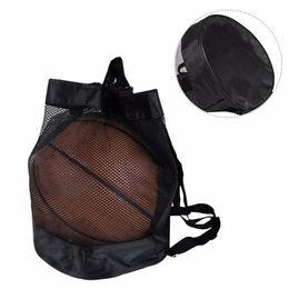 $enCountryForm.capitalKeyWord NZ - Basketball Black Mesh Bag Drawstring Basketball Bag Easy Carrying Net Outdoor Football Sling Pack #15200