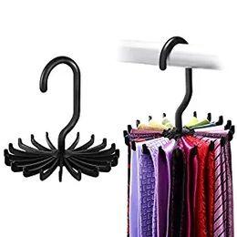 venda por atacado Gancho de suporte de gancho de cinto de cremalheira de laço Twirl atualizado para armazenamento de organizador de armário