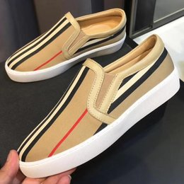 $enCountryForm.capitalKeyWord Australia - 2019 19SS NEW Collection spring fall Designer Luxury Fashion mens real leather with canvas FABRIC Trainer Shoes slip on Low Top Sneakers
